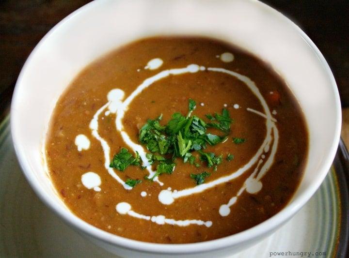 Smoky Black Bean & Pumpkin Soup {vegan & GF} | power hungry