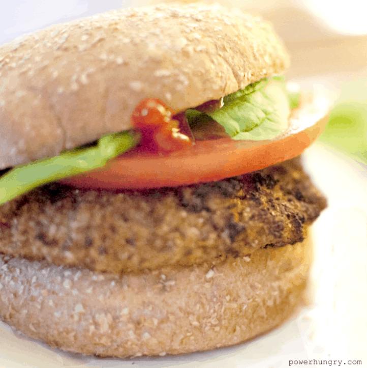 3 Ingredient Vegan Bean Burgers Oil Free Gluten Free Powerhungry