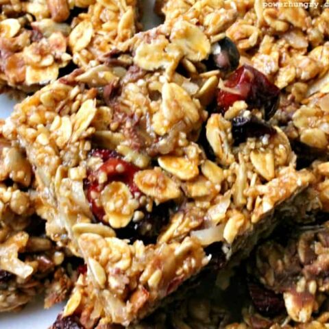 No-Bake Oatmeal Protein Bars {V + GF}