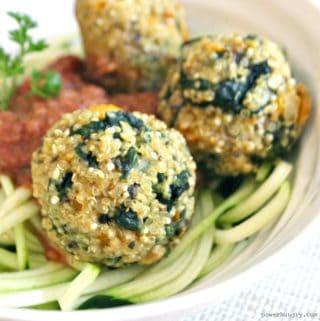 Quinoa & Kale Meatballs {Vegan, Gluten-Free}
