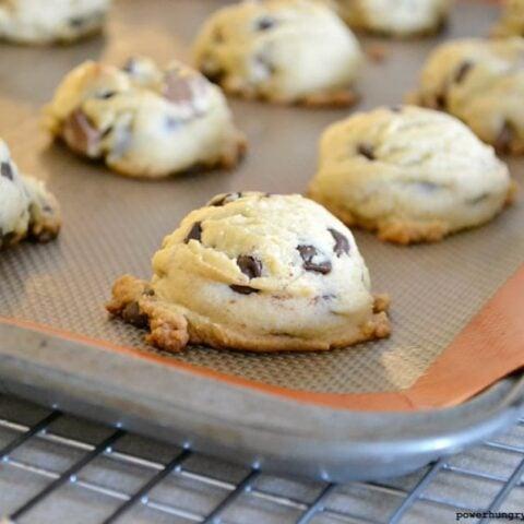 Coconut Flour Chocolate Chip Cookies (vegan, grain-free, Paleo option)