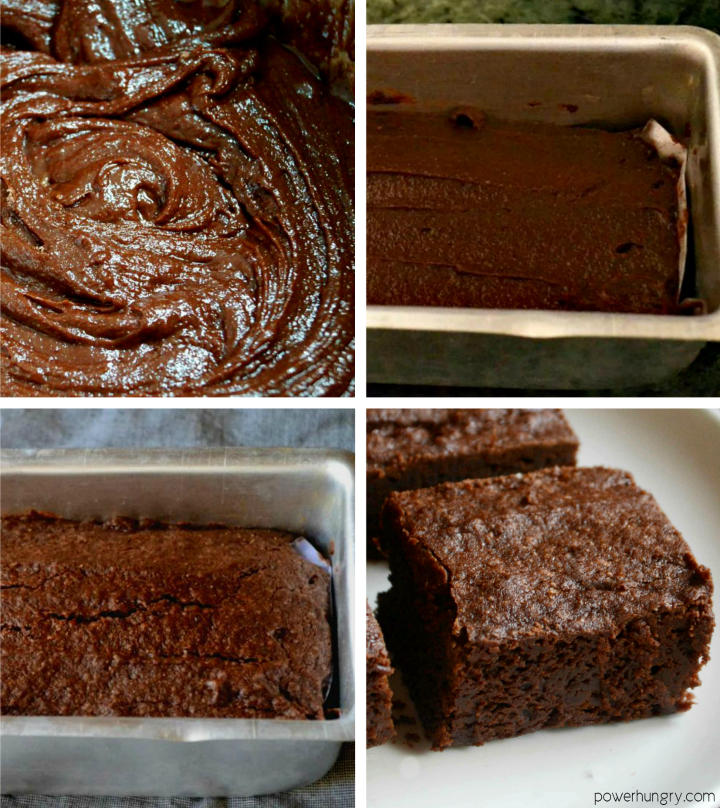 step by step photos of how to make vegan gluten-free oat flour brownies