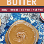 pinterest image for sunflower seed butter