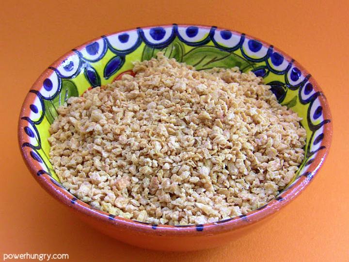 bowl of tvp
