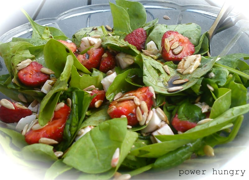 camilla strawberry spinach salad