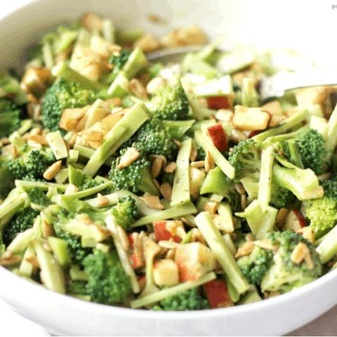 Apple, Broccoli & Sunflower Seed Salad