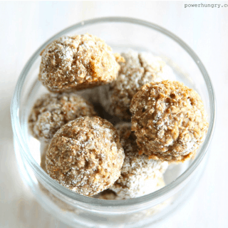 Almond Butter & Coconut Flour Energy Balls {Vegan & Paleo}