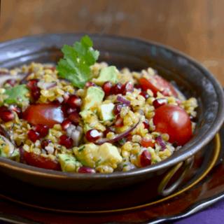 Lentil Salad w/ Pomegranate & Avocado