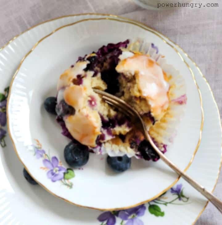 a blueberry lemon muffin 1