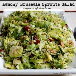 Lemony Brussels Sprouts Salad {vegan+glutenfree+paleo}