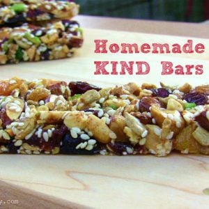 Homemade KIND Bars {Gluten-Free, Vegan}