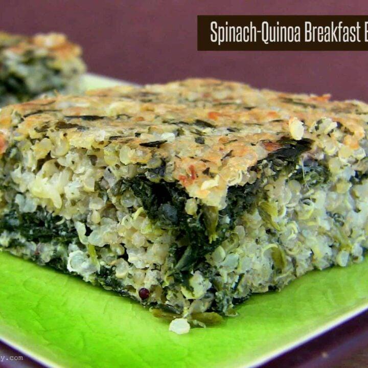 Spinach-Quinoa Breakfast Bars