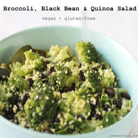 Broccoli, Black Bean and Quinoa Salad
