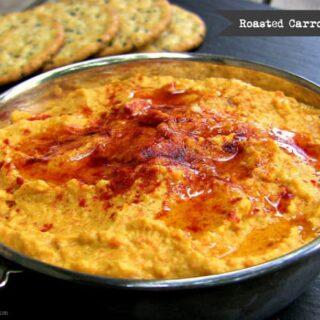 Roasted Carrot Hummus (Bean-Free, Paleo, Vegan, Gluten-Free)