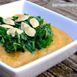 Quick Pumpkin Polenta with Kale {Vegan, Gluten-Free}