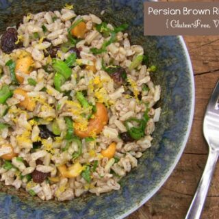 Persian Brown Rice and Cashew Salad {Vegan, Gluten-Free}