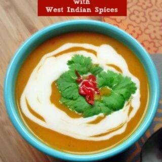 Sweet Potato Bisque with West Indian Spices {Vegan, Paleo, Gluten-Free}