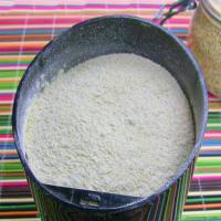 freshly ground quinoa flour
