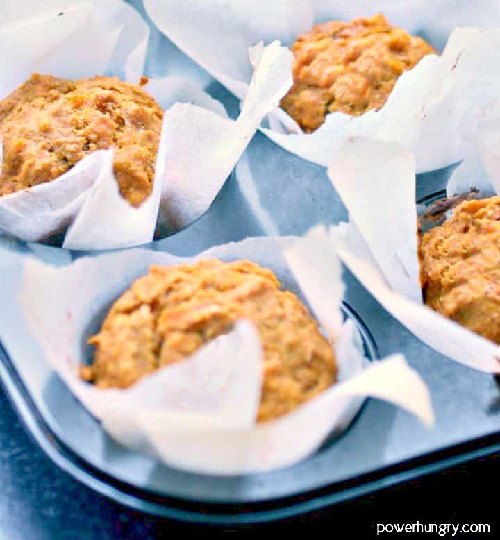 coconut flour pumpkin muffins in a muffin tin