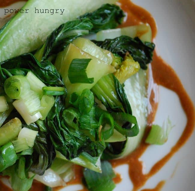 Bok Choy & Broccoli with Szechuan Sauce