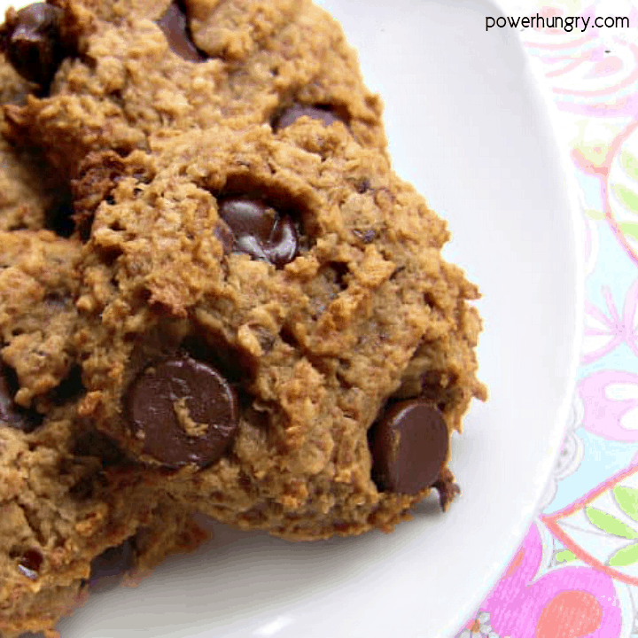 Plate of DIY Zbar Cookies , which are vegan, oil-free, gluten-free and date-sweetened.