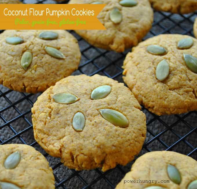 Coconut Flour Pumpkin Bars: Easy Pumpkin Coconut Flour Cookies {Paleo, Grain-Free
