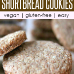 close-up of buckwheat almond shortbread cookies, which are vegan and gluten-free