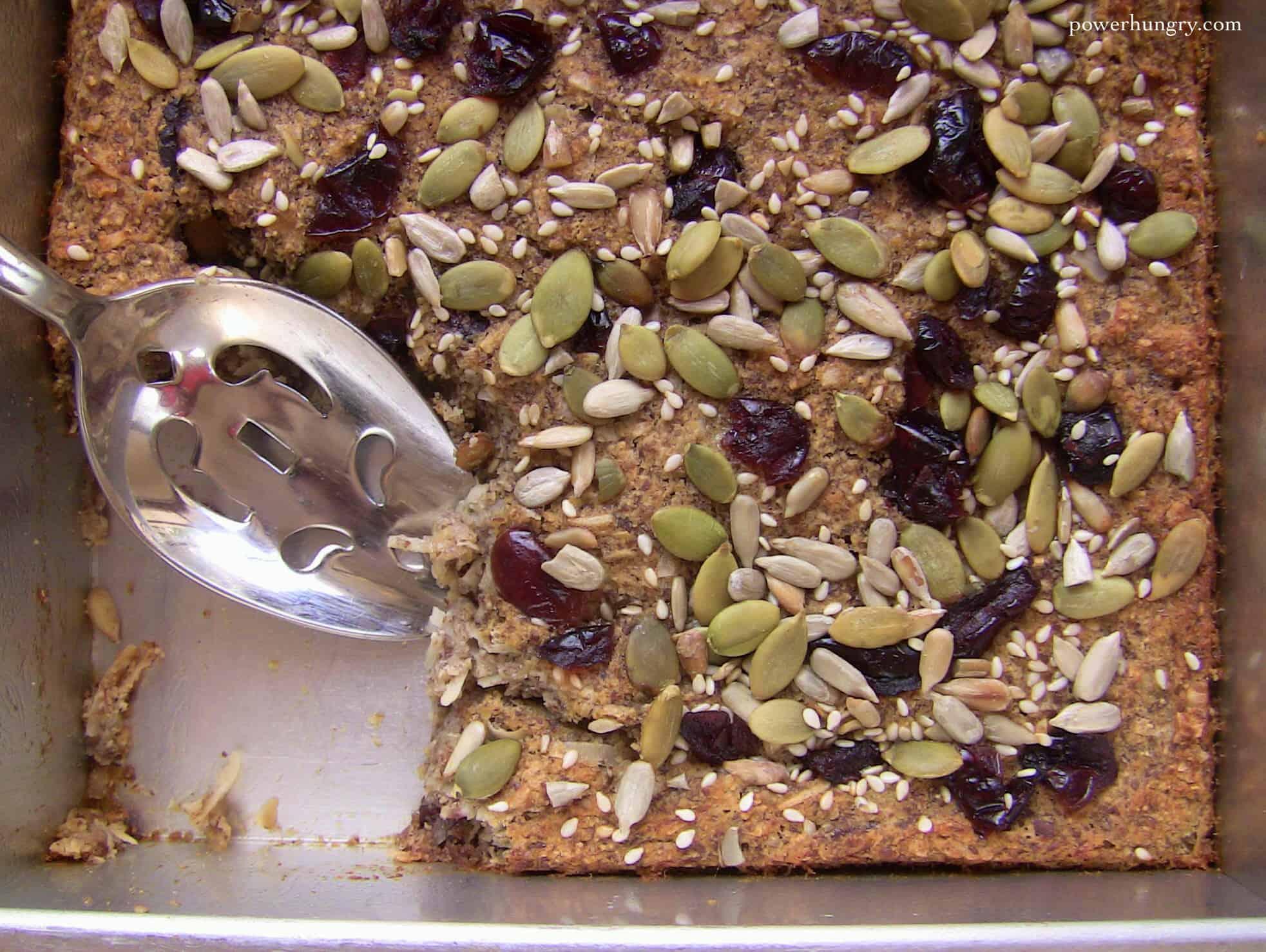 """Grain-Free Baked """"Oatmeal"""" {vegan, gluten-free, nut-free}"""