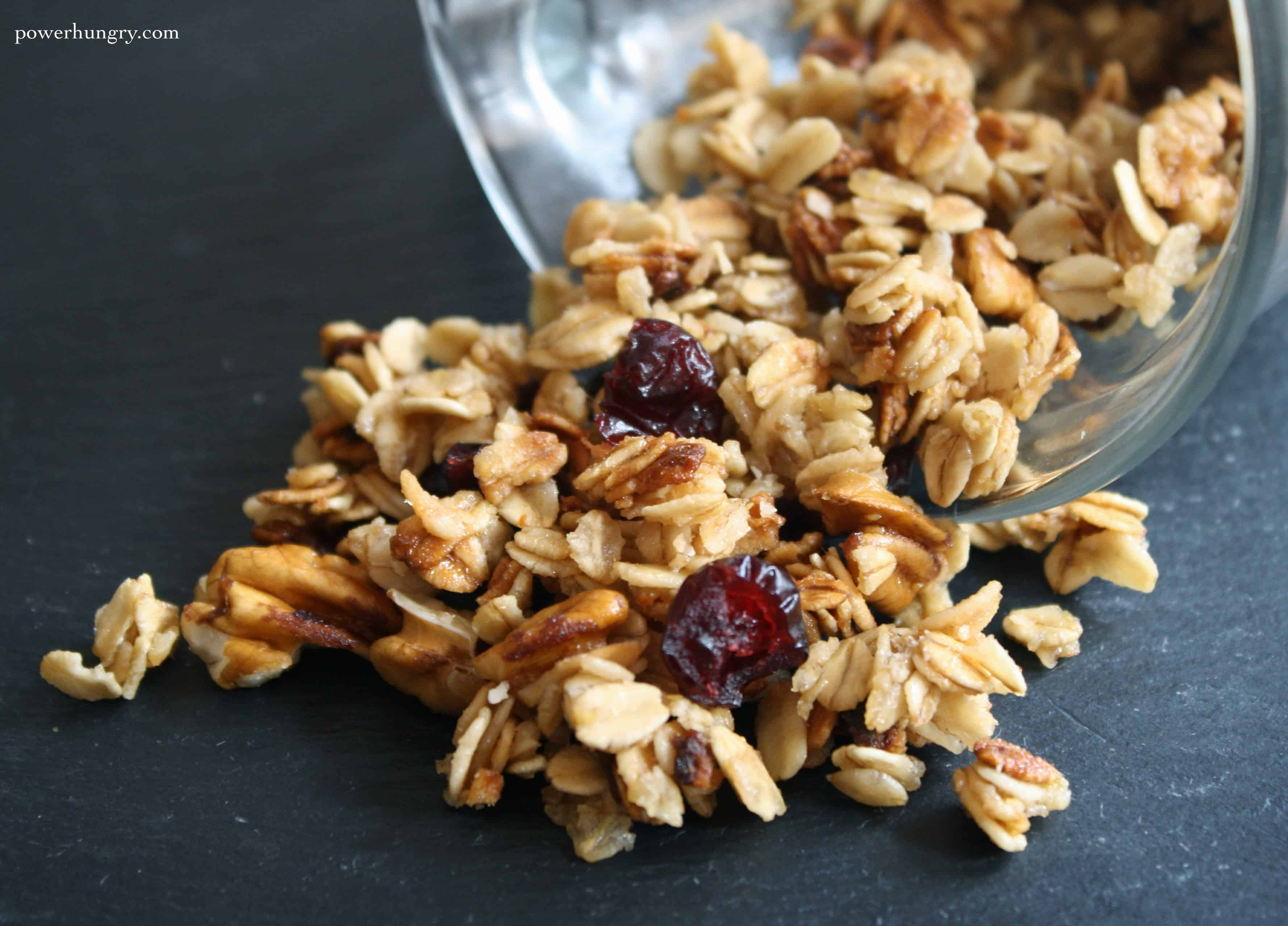 Shamelessly easy 5 minute 5 ingredient microwave mug granola you could hang around the kitchen for 45 minutes to an hour hand crafting a jumbo batch of artisanal granola follow it up with 20 minutes of scrubbing ccuart Image collections