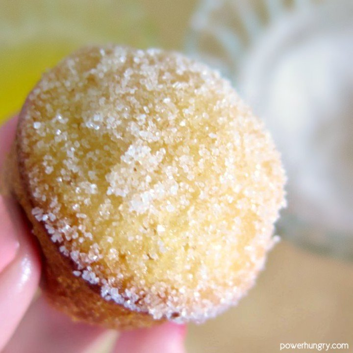 mini donut muffin made with almond flour and oats