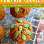 pumpkin coconut flur cookies on wire rack with floural napkin