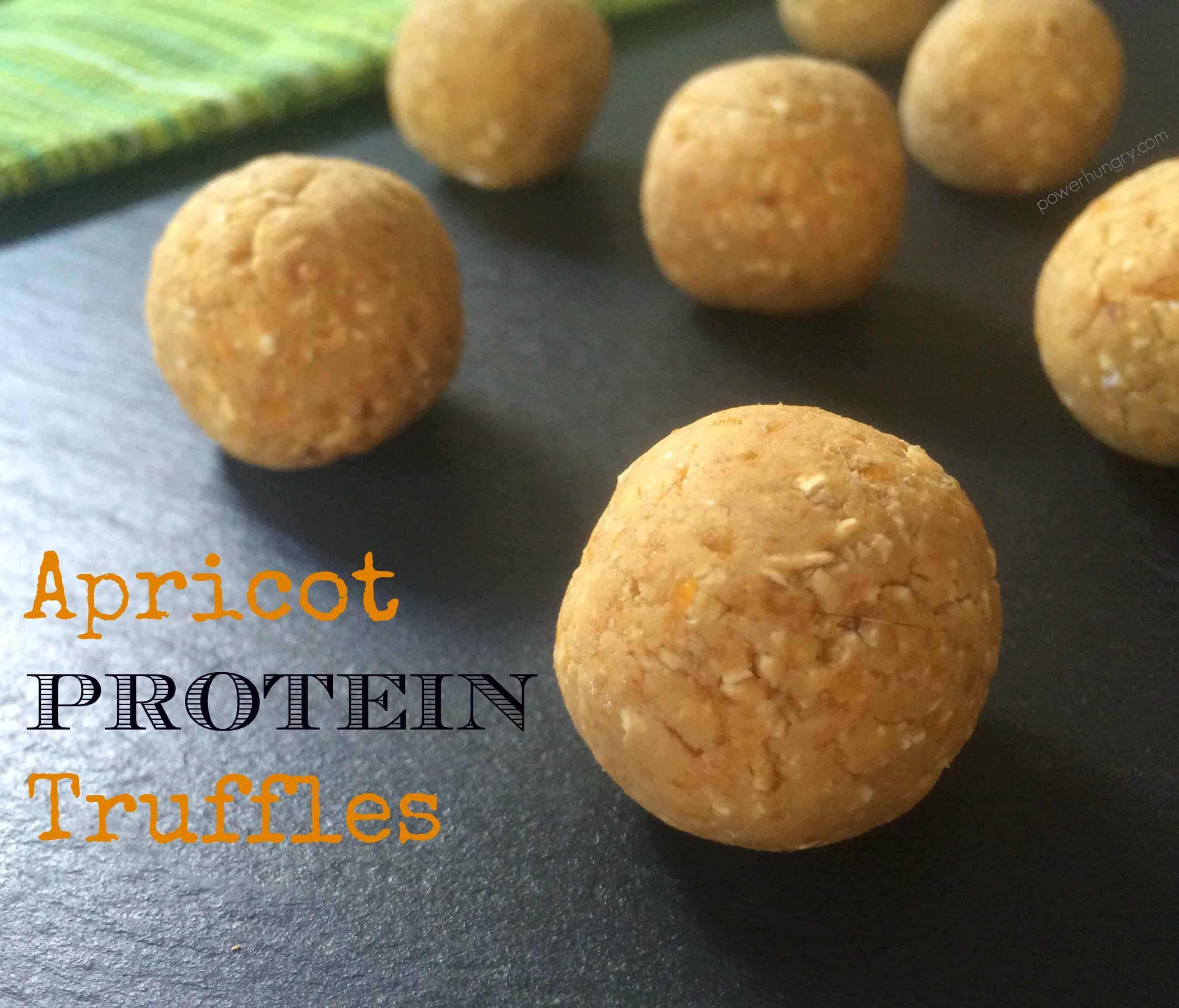 4-Ingredient Apricot Protein Truffles {gluten-free, high-protein, vegan}