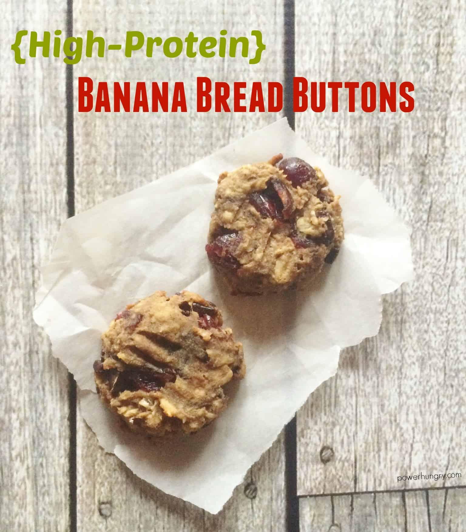 High-Protein Banana Bread Buttons {vegan, gluten-free}