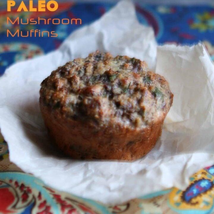 Paleo Mushroom Muffins {gluten-free, almond flour}