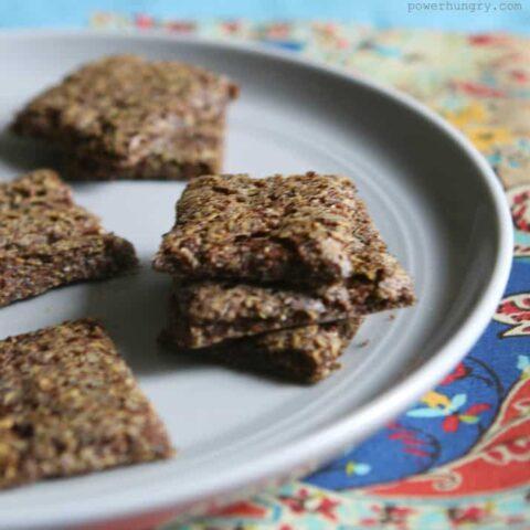 3-Ingredient Teff Crackers {Gluten-Free, Vegan}