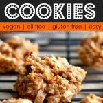 healthy carrot cake oat cookies on a black metal cooling rack