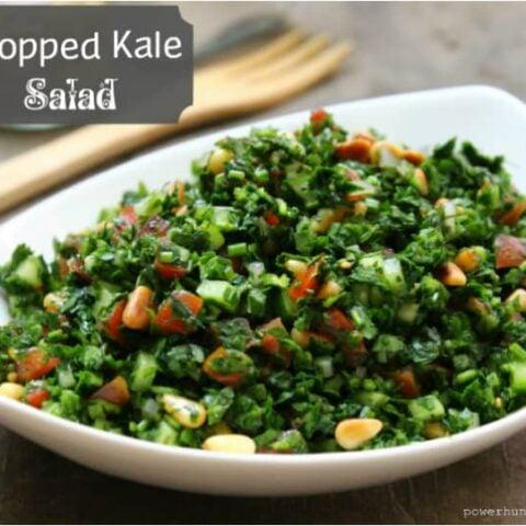 Chopped Kale Salad (Paleo, Vegan, Gluten-Free)