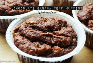 Chocolate-Banana Teff Muffins {Gluten-Free+Vegan} | power hungry