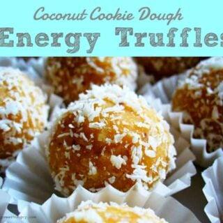 Coconut Cookie Dough Energy Truffles {Vegan, Gluten-Free}
