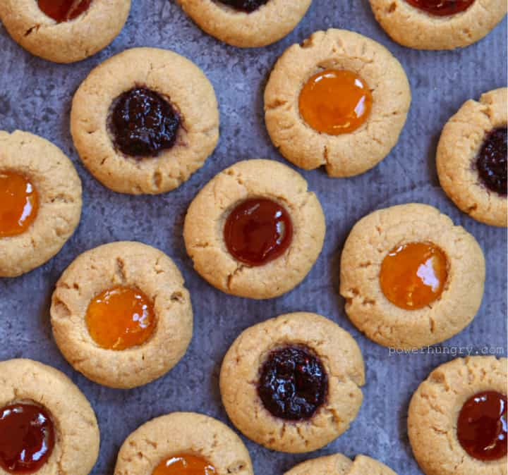 flourless thumbprints