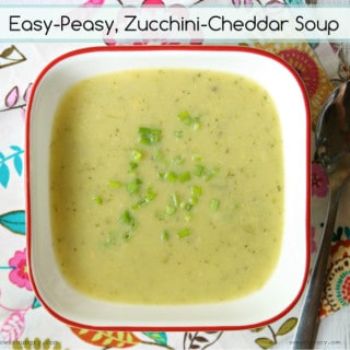 Zucchini-Cheddar Soup (Gluten-Free, Vegan Option)