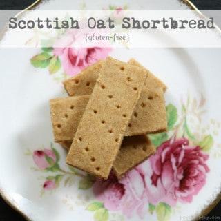 Scottish Oat Shortbread {Gluten-Free}