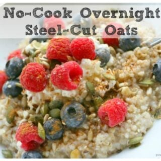 No-Cook, Overnight Steel Cut Oats