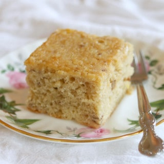 Chickpea Flour Banana Cake (Gluten-Free, Grain-Free + Vegan Option)