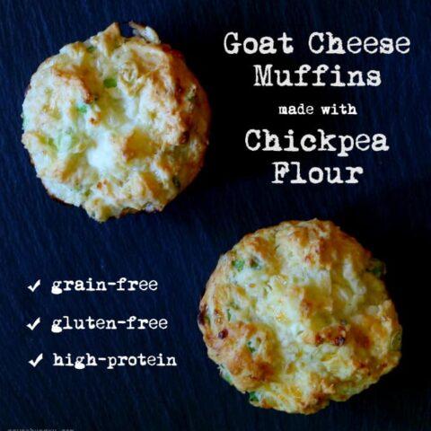 Goat Cheese Muffins made w/ Chickpea Flour {Grain-Free, Gluten-Free}
