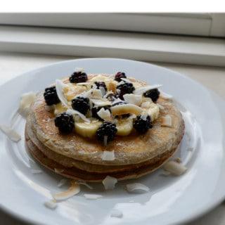 Buttermilk Chickpea Flour Pancakes {Grain-Free, Gluten-Free} + Pancake Pan Giveaway