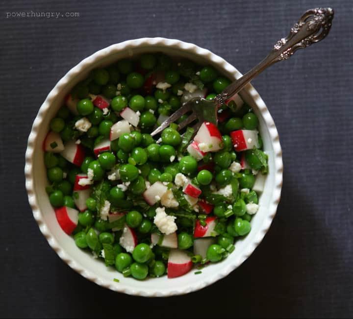 pea radish salad 1