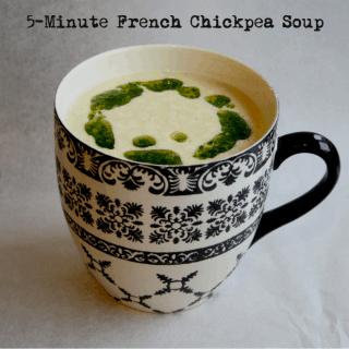 5-Minute French Chickpea Soup {GF + V + Mug Meal}