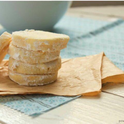 Lemon Cardamom Shortbread (made w/ Chickpea Flour)