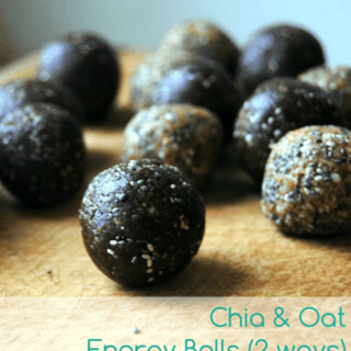 Chia & Oat Energy Balls (2 Ways)